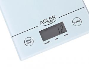 AD3138 Cantar bucatarie Adler, Monitoare & display LCD, Max. 5 Kg., gradatie de 1gram, auto zero0
