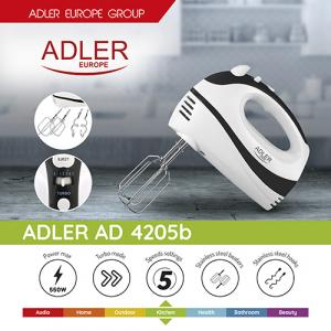 AD4205 Mixer de mana Adler, 300 W, 5 viteze5