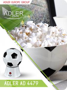 AD4479 Aparat pentru popcorn Adler, 1200 W, Fara ulei1