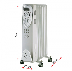 Calorifer electric Adler AD 7807, termostat, 7 elemente, 1500W1