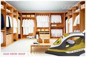 CR5029 Fier de Calcat cu Aburi Camry, Talpa Ceramica, Putere 3000W, Functie Auto-Curatare si Anti-Picurare, Calcare Verticala9