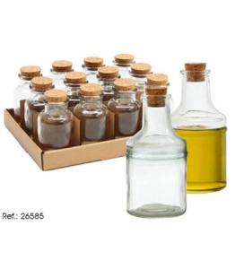 Recipient sticla cu dop 14 x 6,5 cm 265850