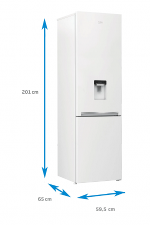 Combina frigorifica Beko RCSA400K20DW, 377 l, Clasa A+, Active Fresh BlueLight, Dozator apa, H 201 cm, Alb [4]