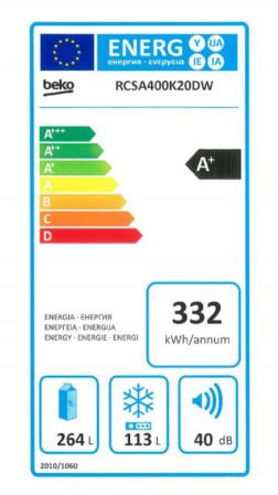 Combina frigorifica Beko RCSA400K20DW, 377 l, Clasa A+, Active Fresh BlueLight, Dozator apa, H 201 cm, Alb [5]