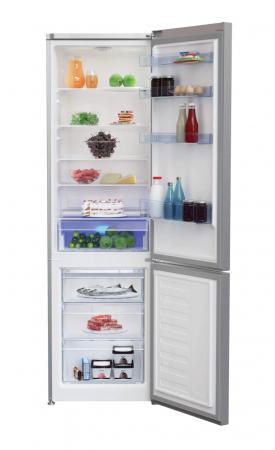 Combina frigorifica Beko RCSA400K30XB, 380 l, Clasa A++, Active Fresh Blue Light, Compartiment 0°-3°C, H 201 cm, Argintiu [1]