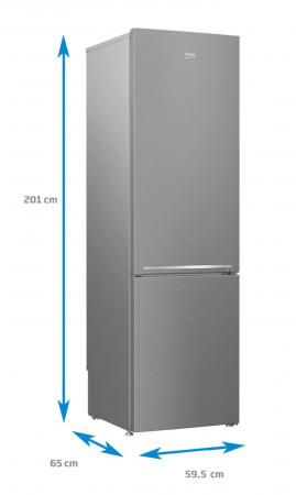 Combina frigorifica Beko RCSA400K30XB, 380 l, Clasa A++, Active Fresh Blue Light, Compartiment 0°-3°C, H 201 cm, Argintiu [3]
