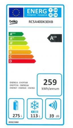 Combina frigorifica Beko RCSA400K30XB, 380 l, Clasa A++, Active Fresh Blue Light, Compartiment 0°-3°C, H 201 cm, Argintiu [4]