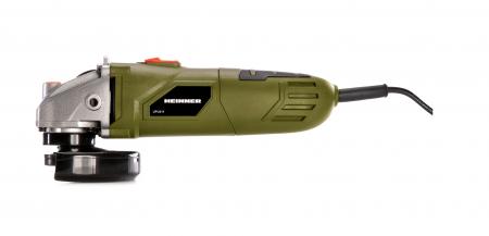 HEINNER UPU011 - Polizor unghiular, 650 W, 230 V, 11.000 RPM, 115 diametru disc, motor din cupru [2]