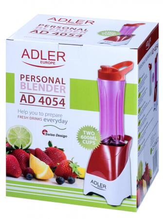 AD4054 Mini Blender Smoothie Adler, 250 W, 1 viteza, 0.6 l, rosu/alb [5]