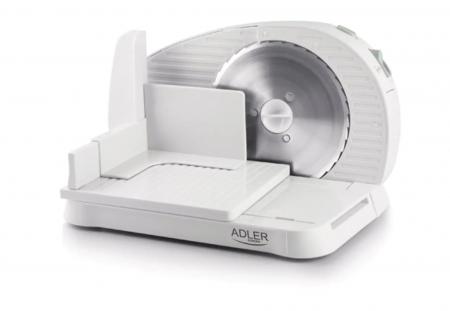 Feliator Adler, putere 200W, cutit otel inoxidabil, indicator grosime, alb [0]