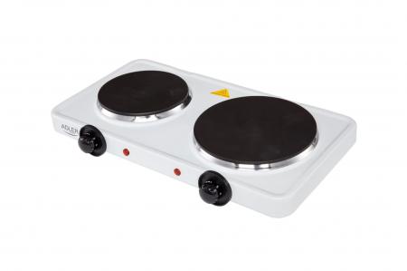 Plita electrica ADLER AD 6504, 2 arzatoare, Control mecanic, Putere 2250 W, alb [0]