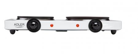 Plita electrica ADLER AD 6504, 2 arzatoare, Control mecanic, Putere 2250 W, alb [1]