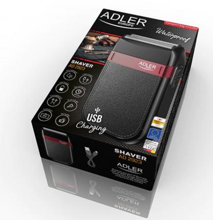 AD2923, Mini aparat de ras electric fara fir ADLER, umed sau uscat, autonomie 45 minute, rezistent la apa [3]
