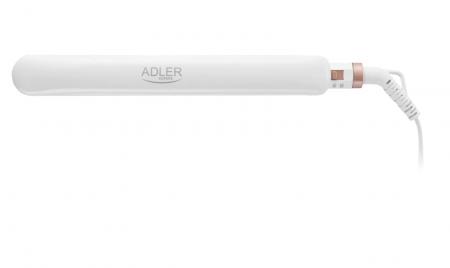 AD2317, Placa Ceramica pentru Indreptat Parul  Adler, Putere 200W, cablu rotativ, culoare alb [3]
