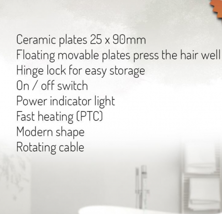AD2317, Placa Ceramica pentru Indreptat Parul  Adler, Putere 200W, cablu rotativ, culoare alb [5]