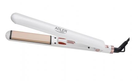 AD2317, Placa Ceramica pentru Indreptat Parul  Adler, Putere 200W, cablu rotativ, culoare alb [6]