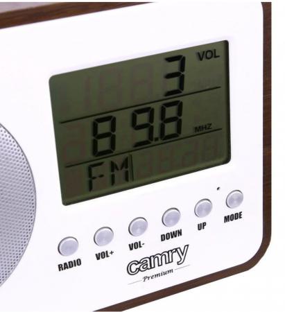 CR1153, Radio digital Camry, ceas, termometru, alarma, lcd, calendar, alb [2]