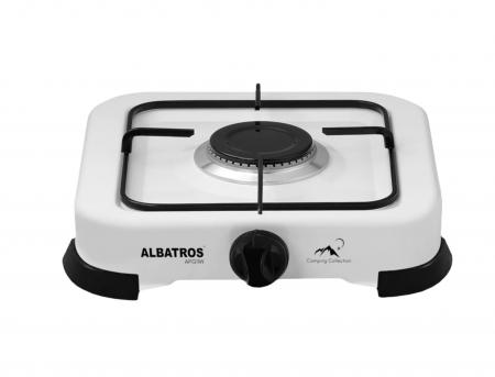 Plita gaz Albatros APG11W, 1 arzator, 2.2 KW, Alb [0]