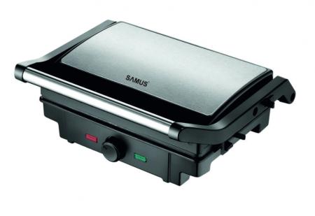 Gratar electric Samus GTS-1500X, Putere 1500 W, Negru/Inox [0]