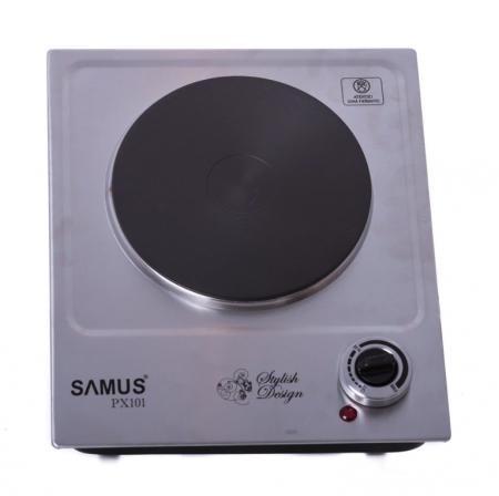 Plita electrica Samus PX101, 1 arzator, Control mecanic, Putere 1500 W, Inox [1]