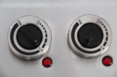 Plita electrica Samus PX102, 2 arzatoare, Control mecanic, Putere 2500 W, Inox [2]