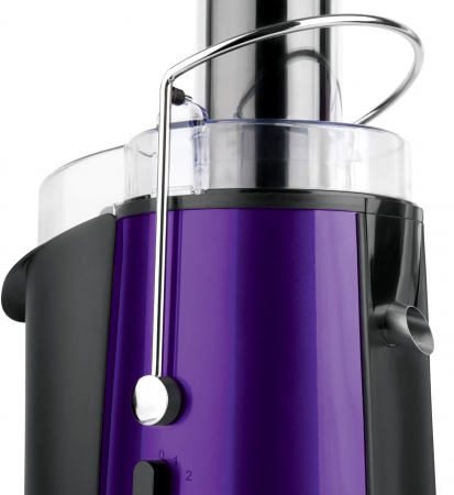 Storcator de fructe si legume Heinner XF-1000UV, 1000 W, Recipient suc 1 l, Recipient pulpa 2 l, 2 Viteze, Tub de alimentare 75 mm, Violet [2]