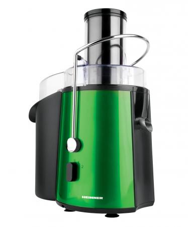 Storcator de fructe si legume Heinner XF-1000GRSP, 1000 W, Recipient suc 1 l, Recipient pulpa 2 l, 2 Viteze, Tub de alimentare 75 mm, Verde Metalic [0]