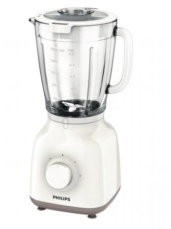 Blender Philips Daily Collection HR2105/00, 400 W, 1.25 l, 2 Viteze, Functie impuls, Alb [0]
