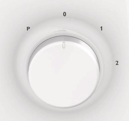 Blender Philips Daily Collection HR2105/00, 400 W, 1.25 l, 2 Viteze, Functie impuls, Alb [2]
