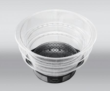 Aparat de gatit cu aburi Heinner Master Collection HSA-1000XMC, 1000 W, 12 l, Argintiu/Negru [2]