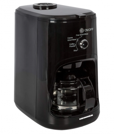 Cafetiera Heinner HCM-900RBK, 900 W, Rasnita incorporata, 0.6 L, Negru [1]