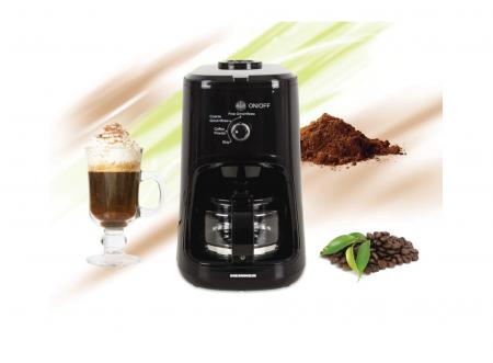 Cafetiera Heinner HCM-900RBK, 900 W, Rasnita incorporata, 0.6 L, Negru [3]