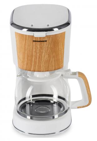 Cafetiera Heinner HCM-WH900BB, 900 W, 1.25 L, filtru detasabil, anti-picurare, oprire automata, Alb [1]