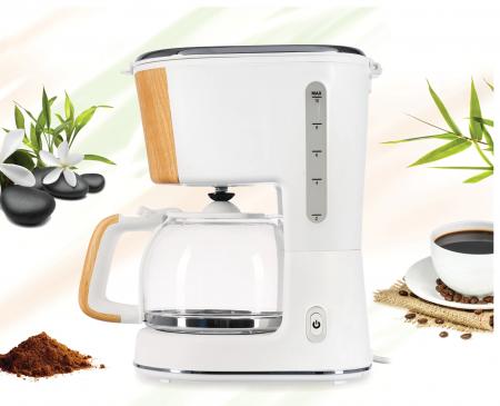 Cafetiera Heinner HCM-WH900BB, 900 W, 1.25 L, filtru detasabil, anti-picurare, oprire automata, Alb [4]