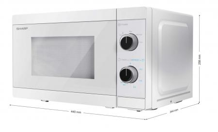 Cuptor cu microunde Sharp YC-MS01E-C, 800 W, 20 L [5]