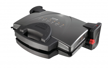 Gratar electric Gorenje KR1800KDP, 1800 W, termostat, Placi reversibile, Negru [0]