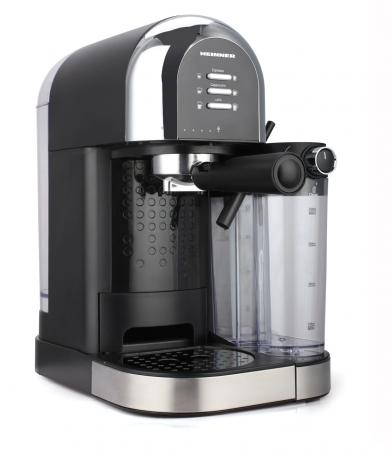Espressor manual Heinner Coffee Dreamer HEM-DL1470BK, 1230-1470W, 20bar, , dispozitiv spumare lapte, rezervor detasabil lapte 500ml, rezervor apa 1.7L, 6 tipuri de bauturi, Negru [1]