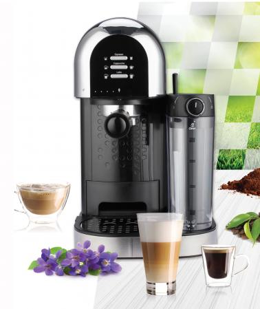 Espressor manual Heinner Coffee Dreamer HEM-DL1470BK, 1230-1470W, 20bar, , dispozitiv spumare lapte, rezervor detasabil lapte 500ml, rezervor apa 1.7L, 6 tipuri de bauturi, Negru [3]