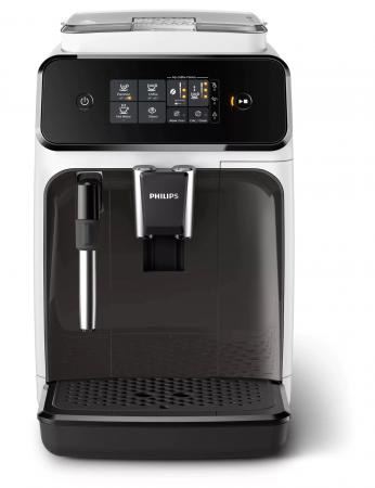 Espressor automat Philips EP1223/00 Seria 1200, 1500W, 15 bar, sistem clasic de spumare, 2 bauturi, afisaj tactil, optiune 2 cesti, 12 setari macinare, rasnita ceramica, Alb [1]