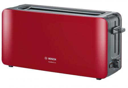 Prajitor de paine Bosch TAT6A004, long slot, 1090W, 2 felii de paine, Rosu [0]