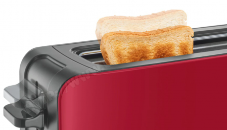 Prajitor de paine Bosch TAT6A004, long slot, 1090W, 2 felii de paine, Rosu [3]