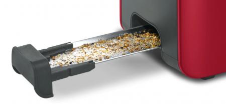 Prajitor de paine Bosch TAT6A004, long slot, 1090W, 2 felii de paine, Rosu [4]