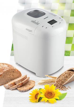 Masina de paine Heinner PastryChef 550 HBM-915WH, 550W, capacitate 700-900g, 15 programe, Alb [2]