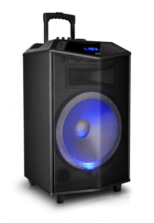 Boxa portabila Akai ABTS-DK15 cu BT, lumini disco, functie inregistrare, microfon [1]