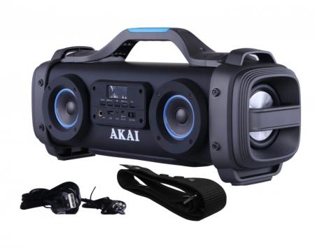 Boxa portabila AKAI ABTS-SH01 cu patru difuzoare super blaster , cu functie Karaoke ,Bluetooth , USB , Aux-in 3.5mm , Baterie reincarcabila [1]