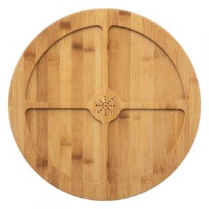 Tava rotunda din bambus, 4 compatrimente, D35.5 cm JJA 1542351