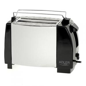 Toaster Adler AD35, 2 felii, 750W, tavita firimituri, buton Stop, negru1