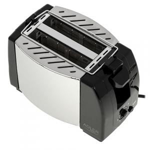 Toaster Adler AD35, 2 felii, 750W, tavita firimituri, buton Stop, negru2