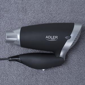 Uscator de par Adler AD 2219, 1250 W, pliabil, Negru/Argintiu4