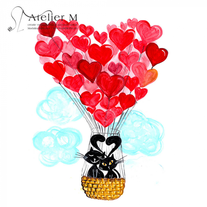 Cană ceramică - Balonul dragostei [1]